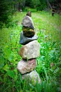 Rock stack 9 & path Lomo